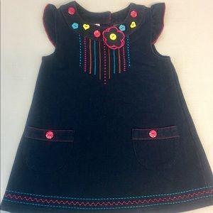 Samara Kids Denim Color Dress Sz 24 month